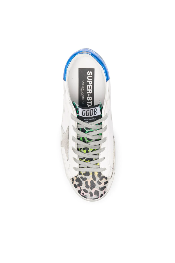 Golden Goose GWF00102.F000277.80279 Superstar Sneaker - White/ Silver Leo Top
