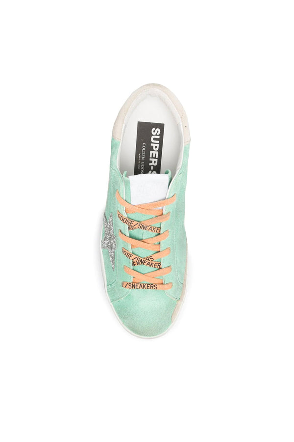 Golden Goose GWF00102.F001009.35697 Superstar Sneaker - Turquoise/ Silver/ Ice Top