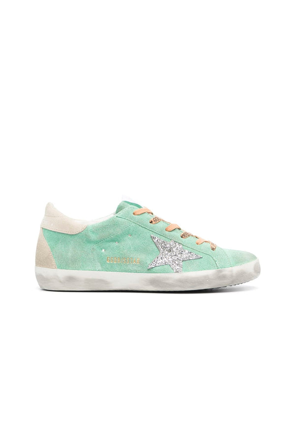Golden Goose GWF00102.F001009.35697 Superstar Sneaker - Turquoise/ Silver/ Ice