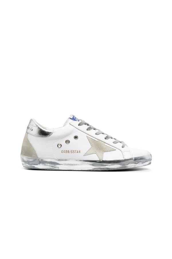 Golden Goose GWF00102.F001075.10485 Superstar Canvas Sneaker - Optic White/ Ice/ Silver