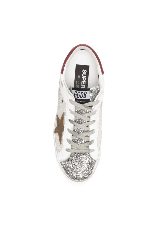 Golden Goose GWF00103.F000156.80188 Superstar Sneaker - Silver/ White Top