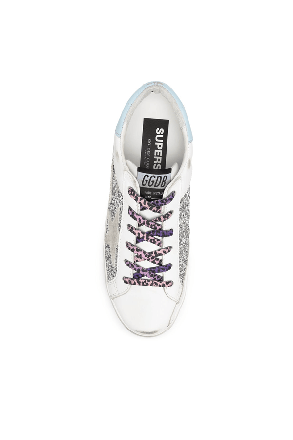 Golden Goose GWF00104.F000284.80287 Superstar Sneaker - Silver/ White Ice Top