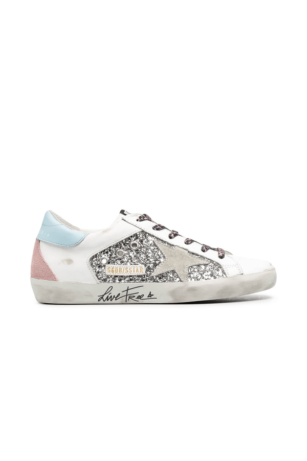 Golden Goose GWF00104.F000284.80287 Superstar Sneaker - Silver/ White Ice