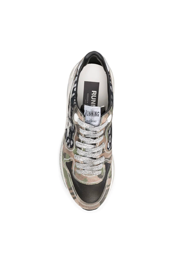 Golden Goose GWF00126.F000293.60251 Running Sole Sneaker - Leo/ Camouflage Top