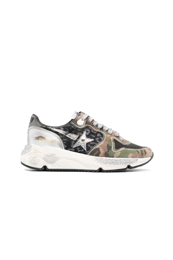 Golden Goose GWF00126.F000293.60251 Running Sole Sneaker - Leo/ Camouflage