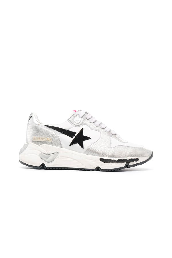 Golden Goose GWF00126.F001058.70159 Running Sole Sneaker - Silver/ White