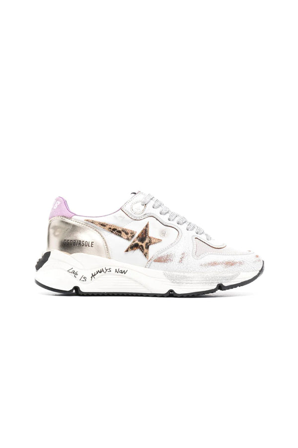 Golden Goose GWF00126.F001144.80869 Running Sole Sneaker - White/ Platinum