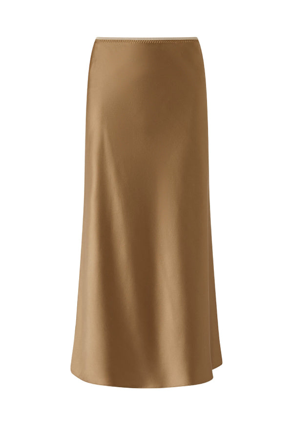 Joseph JF004893 Isaak Silk Skirt - Taupe