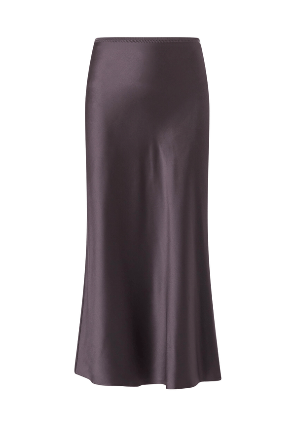 Joseph JF004013 Isaak Silk Satin Skirt - Anthracite