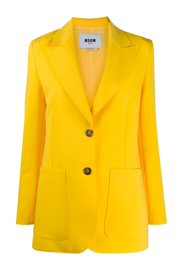 MSGM 2941MDG05207651 Single Breasted Blazer - Sun
