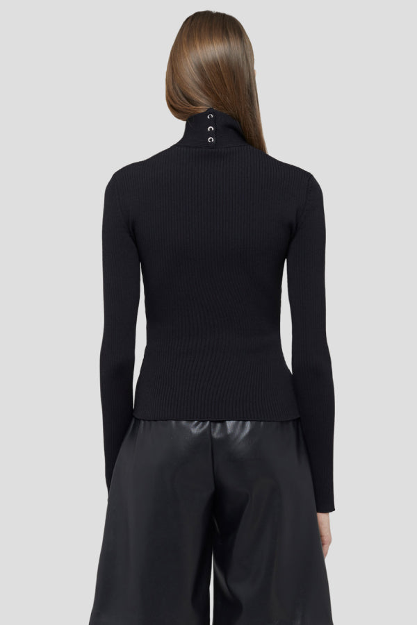 MSGM 2941MDM125207790 Open Front Knit - Black Back