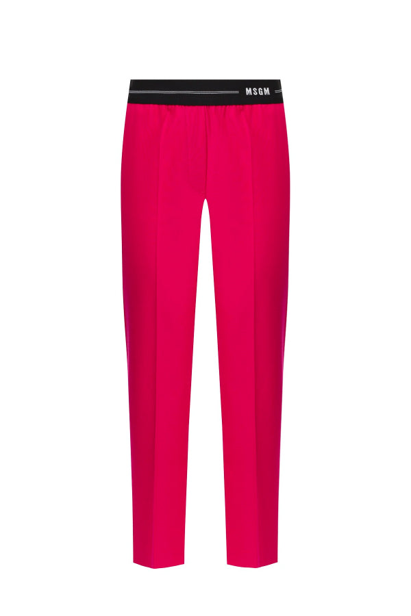 MSGM 2842MDP104 207309 Logo Waistband Pant Bouganville (5058037940359)