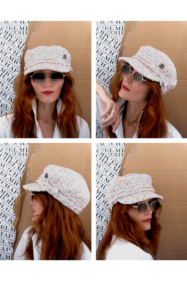Maison Michel 2213053001 New Abby Cap - Spring Tweed Model