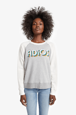 Mother Denim 8042-272 The Square Sweatshirt - Adios