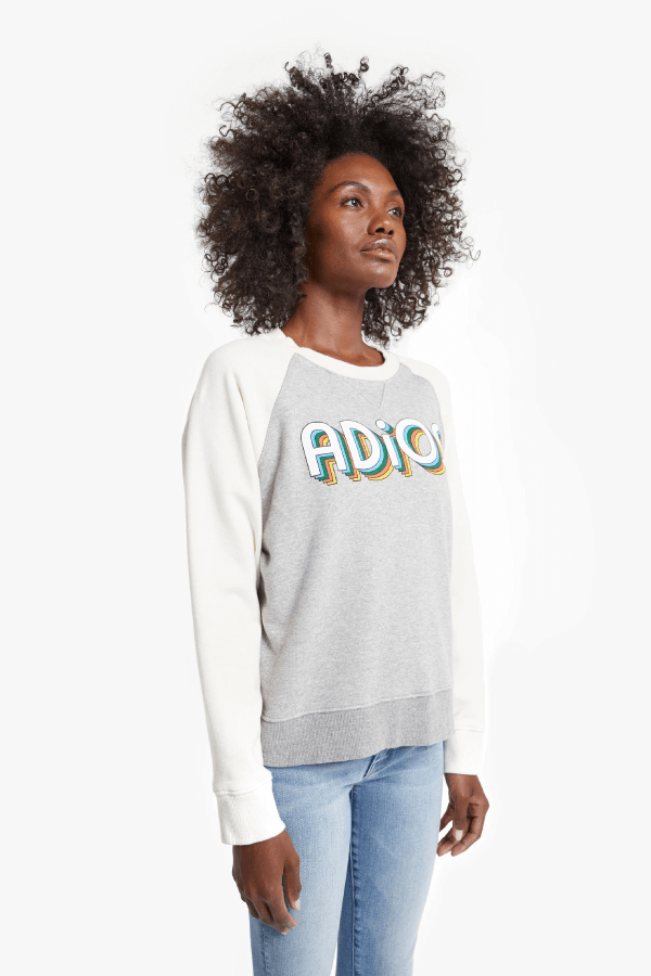 Mother Denim 8042-272 The Square Sweatshirt - Adios Side