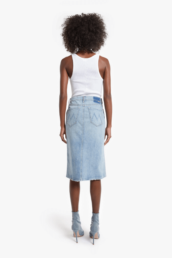 Mother Denim 9405-259 The Pixie Straight A Skirt - Wild Calling Back