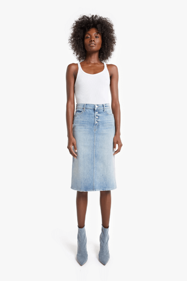 Mother Denim 9405-259 The Pixie Straight A Skirt - Wild Calling