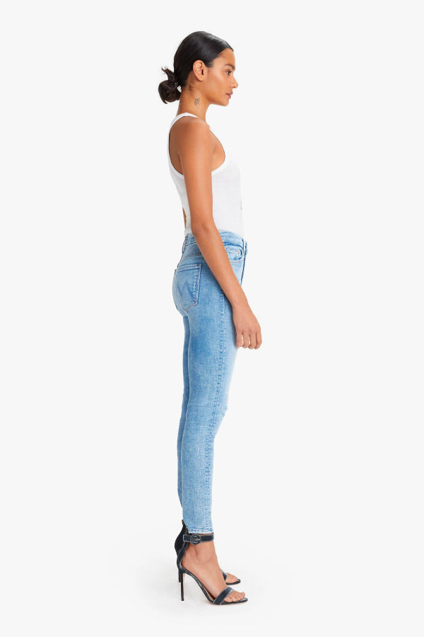 Mother Denim High Waisted Looker Dropping Out 1221-775-DOU Side (4722571804807)