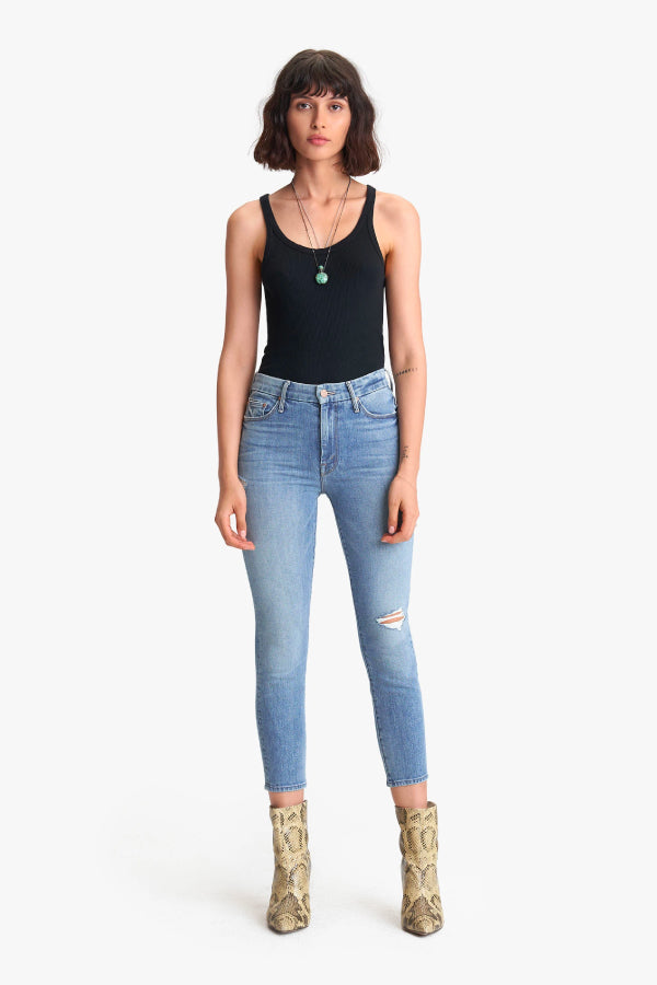 Mother Denim High Waisted Look Crop Let's Kick It 1331-624-LKI Front (4798477369479)