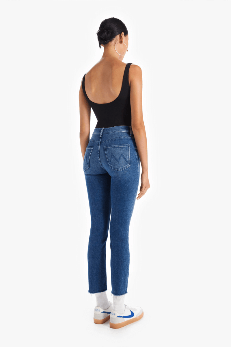 Mother Denim 1756-686 Mid Rise Dazzler Crop Fray - We're All In This Together Back