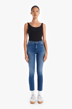 Mother Denim 1756-686 Mid Rise Dazzler Crop Fray - We're All In This Together Front
