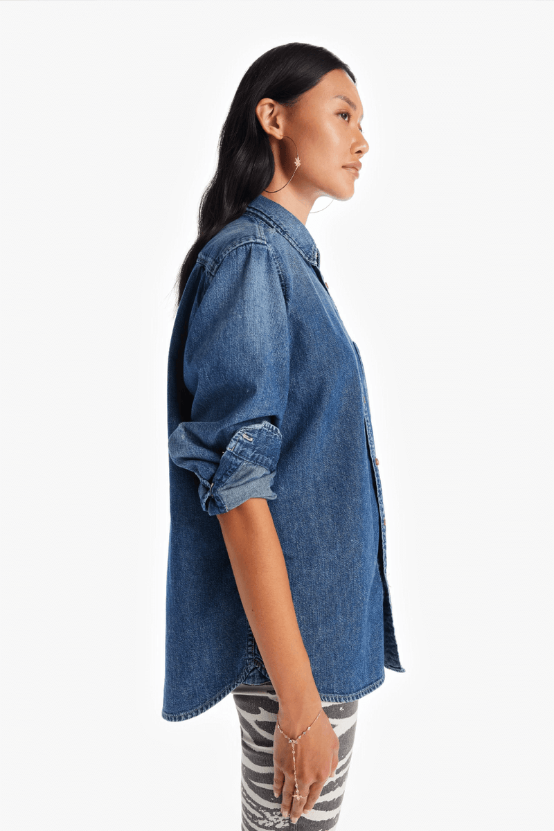 Mother Denim 2715-350 The Overshirt - Chip on Your Shoulder Side