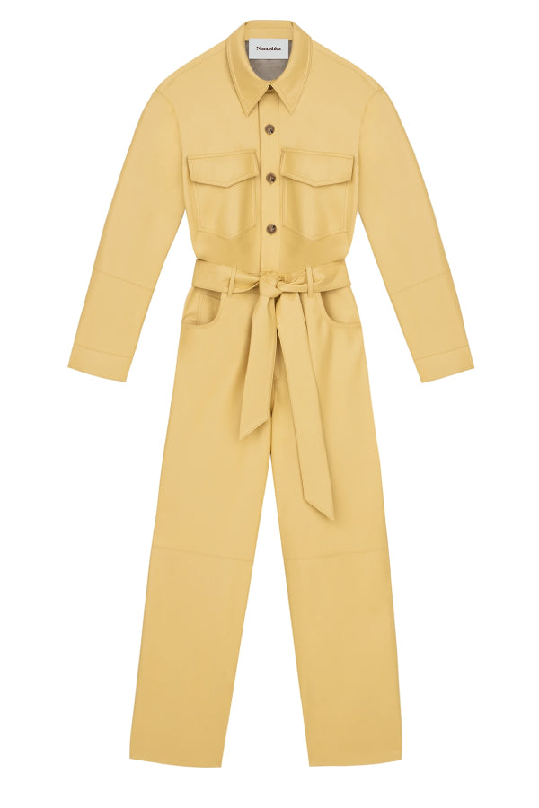 Nanushka NW20PFJS00311 Ashton Vegan Leather Jumpsuit - Margarine