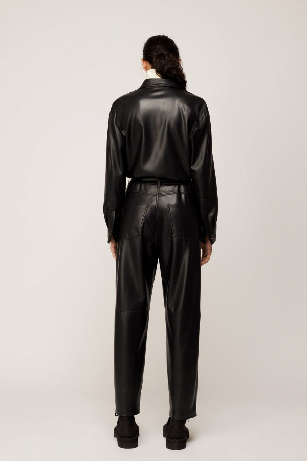 Nanushka NW20PFJS01099 Ashton Vegan Leather Jumpsuit - Black Back