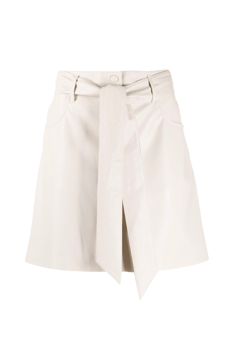 Nanushka NW21CRSK00871 Meda Vegan Leather Mini Skirt - Creme