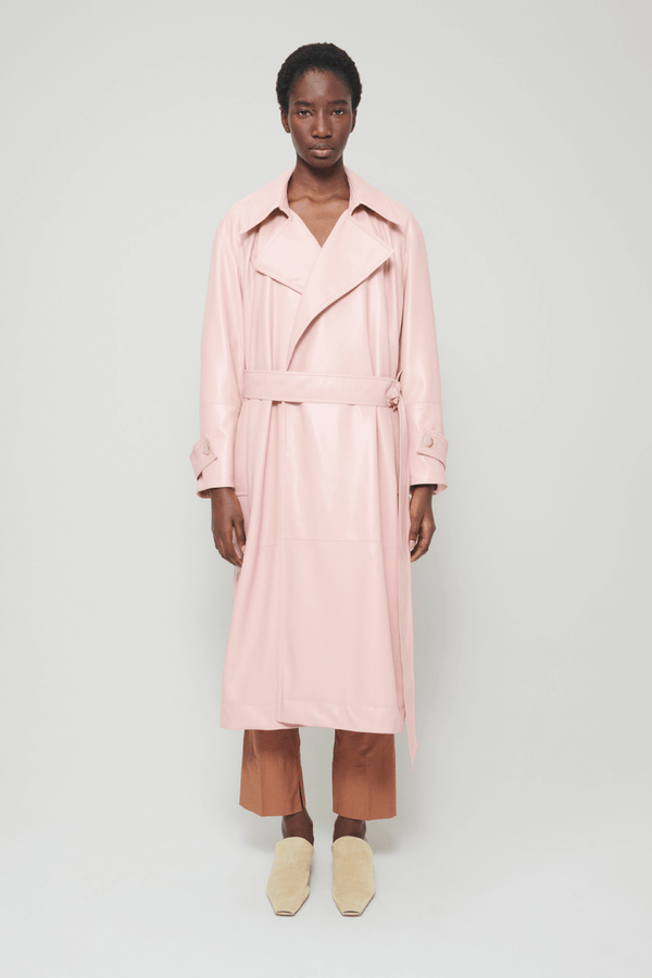 Nanushka NW21RSOW00132 Amal Vegan Leather Trench - Pink Front
