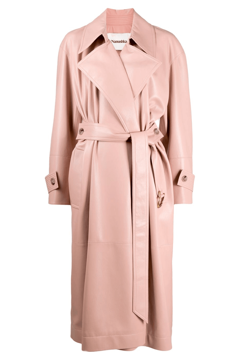 Nanushka NW21RSOW00132 Amal Vegan Leather Trench - Pink