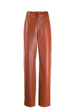 Nanushka NW21SSPA02177 Radha Vegan Leather Pant - Brick