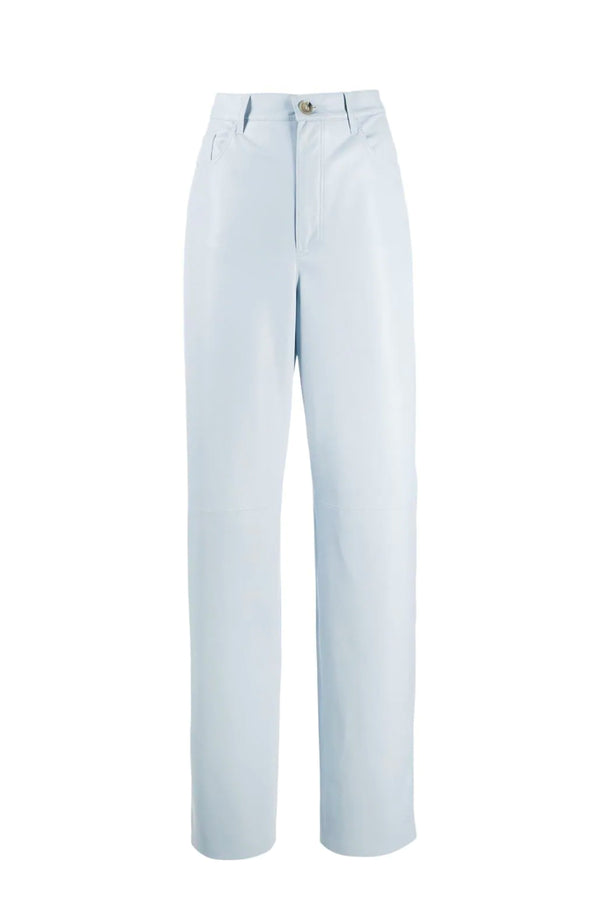 Nanushka NW21SSPA02177 Radha Vegan Leather Pant - Dusty Blue