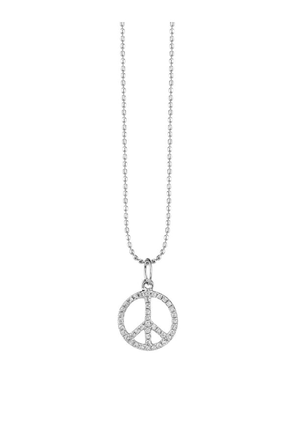 Sydney Evan Diamond Peace Sign Necklace White Gold (4958996234375)