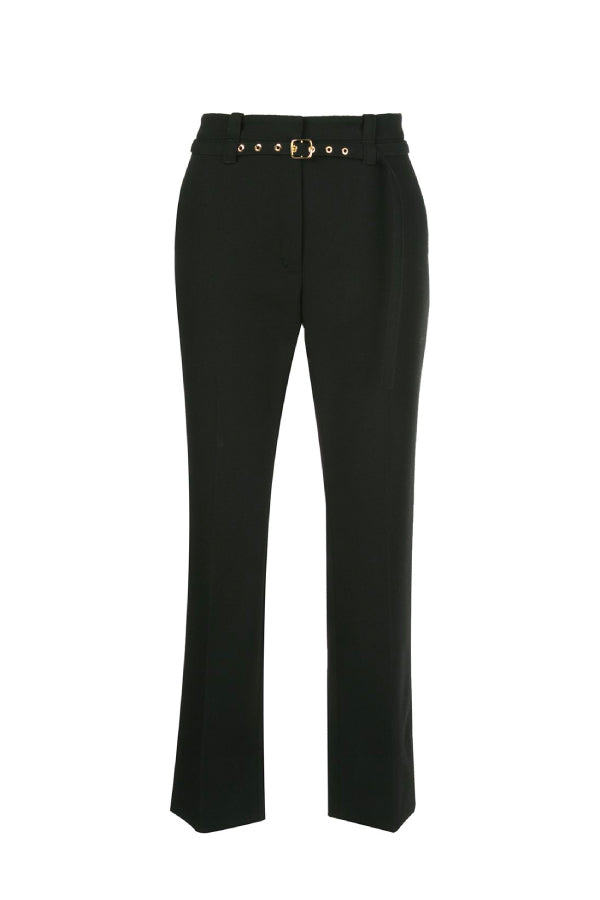 Proenza Schouler R2036003 Tuxedo Suiting Belted Pant - Black