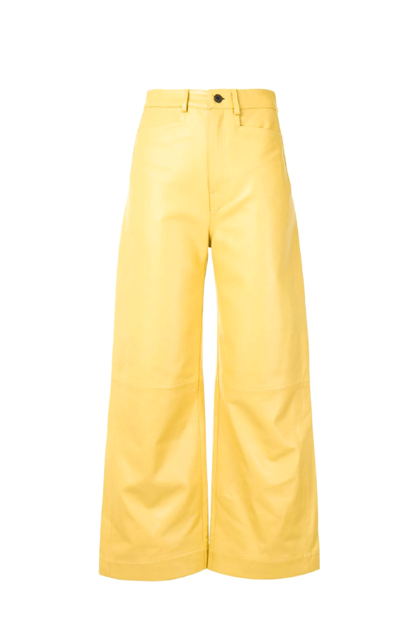 Proenza Schouler WL2116070 Leather Culotte - Citron