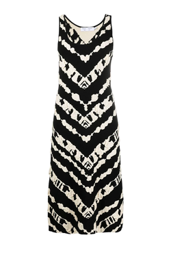 Proenza Schouler White Label Animal Jacquard Knit Dress - Black/ Ecru