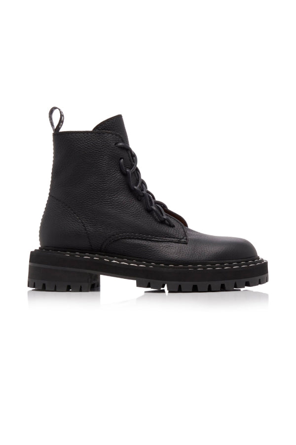 Proenza Schouler PS35113A-12110 Lug Sole Combat Boot - Black