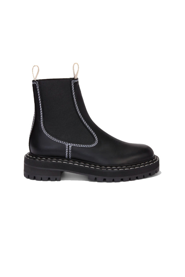 Proenza Schouler PS35115A 12110 Lug Sole Chelsea Boot - Black