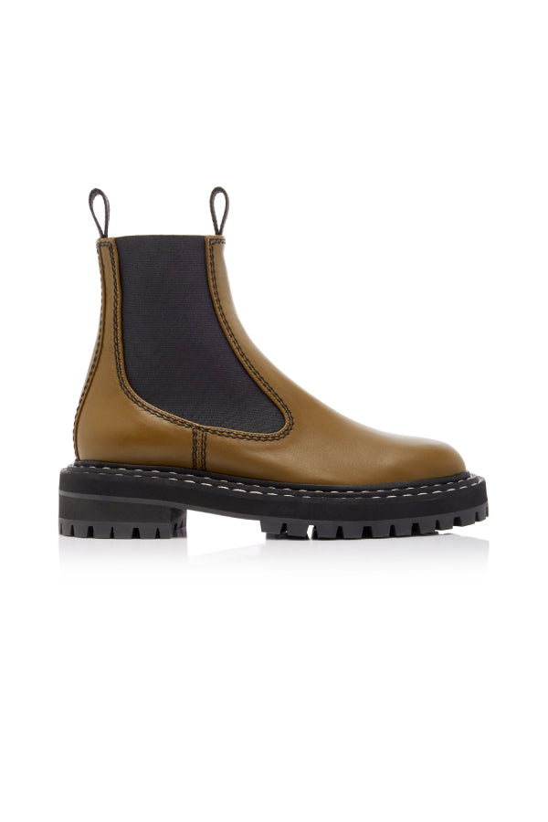 Proenza Schouler PS35115A-12141 Lug Sole Chelsea Boot - Fatigue