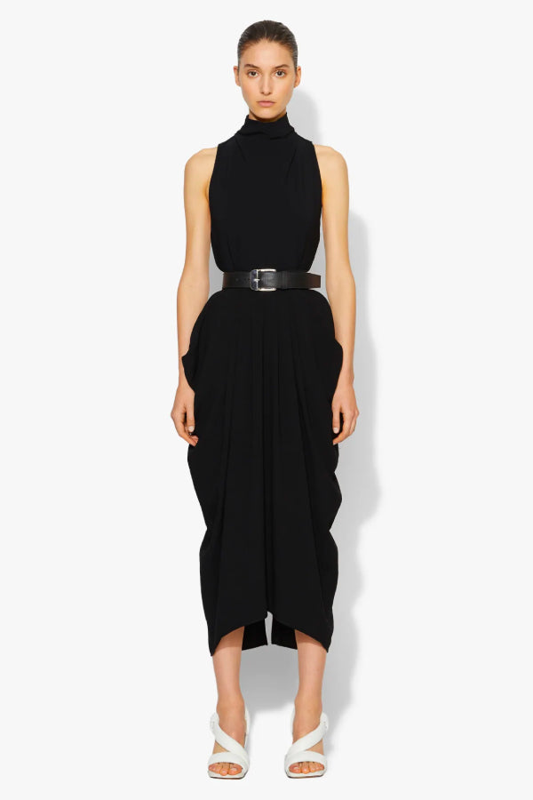 Proenza Schouler Sleeveless Knotted Back Top - Black (4640613564551)