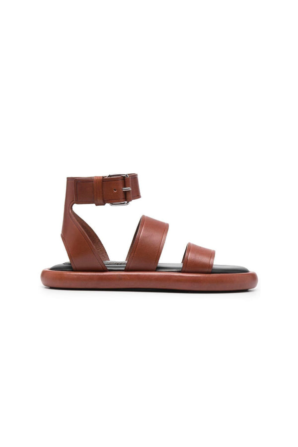 Proenza Schouler PS36140C Pipe Leather Sandal - Tan