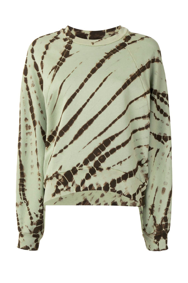 Proenza Schouler White Label WL2124220 Tie Dye Sweatshirt - Light Spanish Moss/ Grass