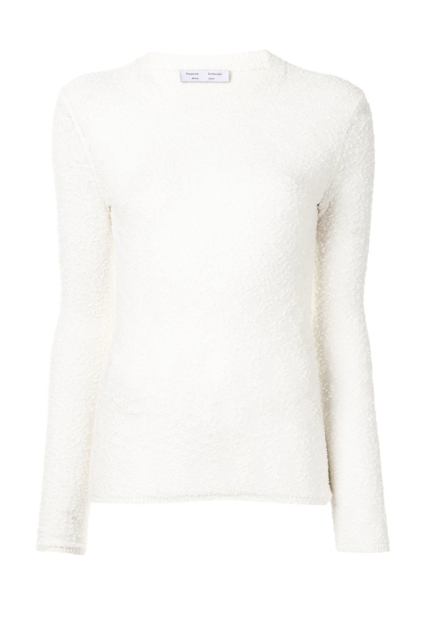 Proenza Schouler White Label WL2127572 Boucle Bobble Sweater - Off White