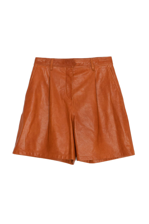 Rag & Bone WAW20P9011LU11  Ivy Leather Short - Tan