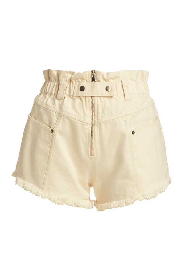 Sea NY SS21-43 Phillipa Denim Shorts - Cream
