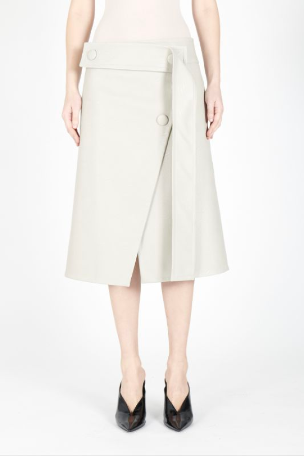 Stella McCartney Paola Alter Leather Skirt - Clay
