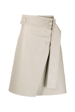 Stella McCartney 602301SJB14 Paola Alter Leather Skirt - Clay