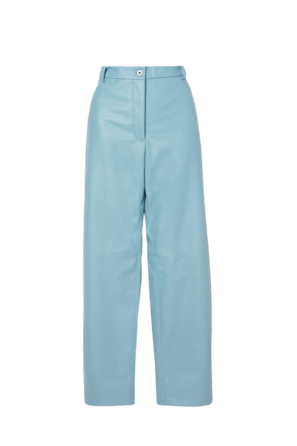 Stella McCartney 543858SON13 Hailey Alter Leather Trousers - Mineral Blue