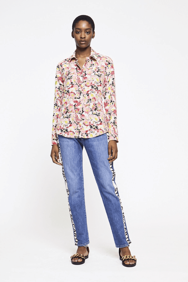Stella McCartney 606912SRA27 Willow Silk Shirt - Pink Front
